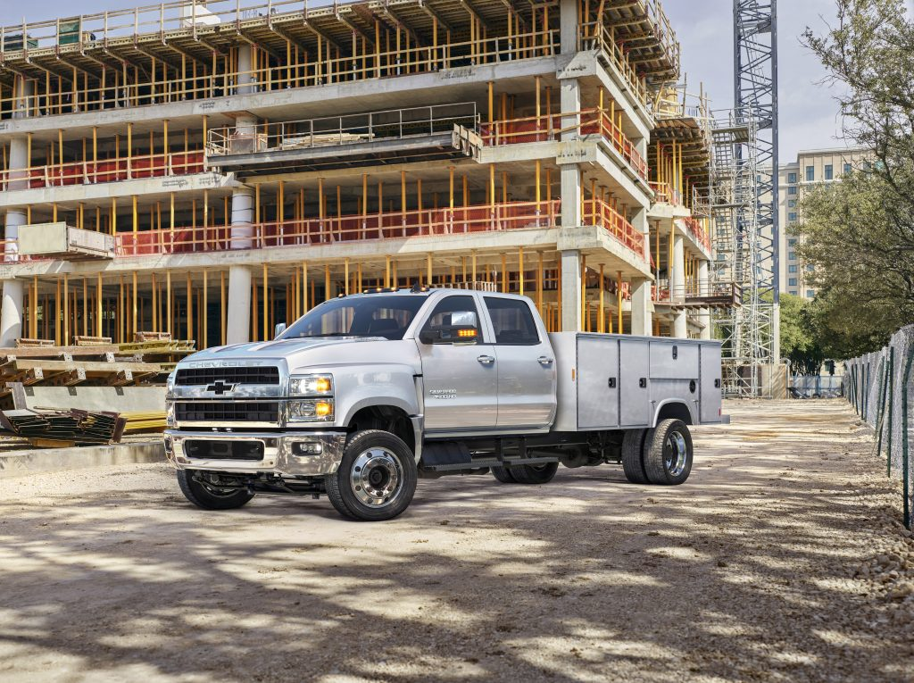 Silver 2019 Chevrolet Silverado 4500HD, 5500HD, and 6500HD