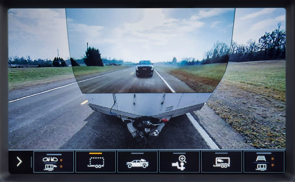 Transparent trailer rear camera view 2020 GMC Sierra HD