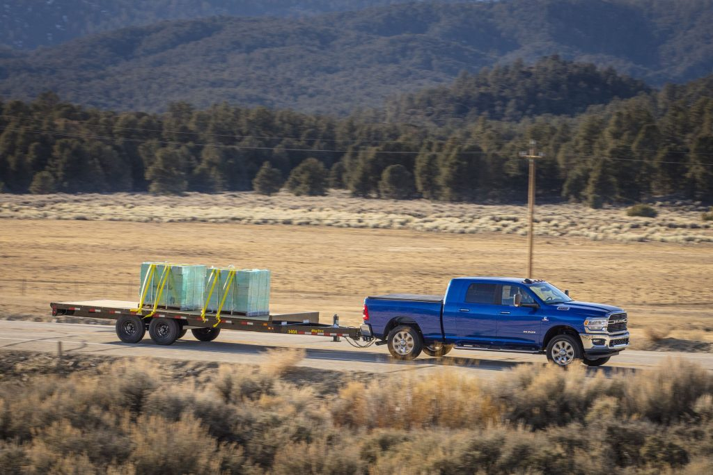 2019 Ram Lone Star Edition Mega Cab Pulling Trailer