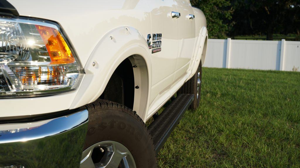 EGR Painted Fender Flares Close-up View